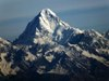 mountain peak visible from the brahmatal trek
