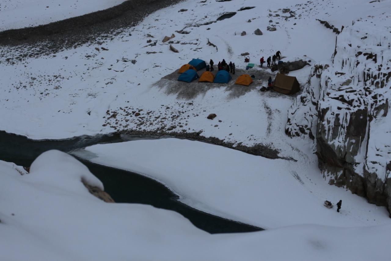 campsite at chadar trek