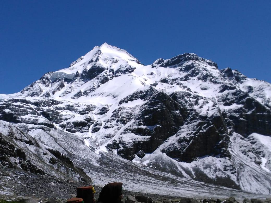 himalayan mountain view from bugyal