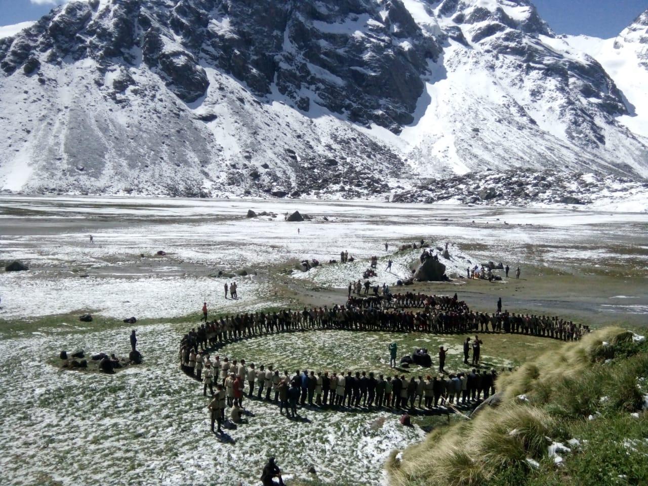 local garhwali people celebrating at devkyara meadows