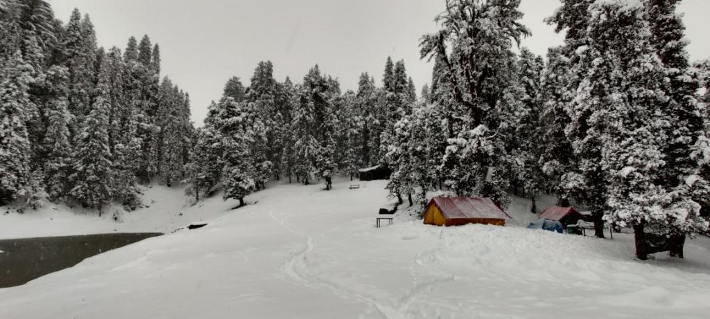 juda ka talab campsite in winter