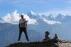 trekkers posing at khaliya top