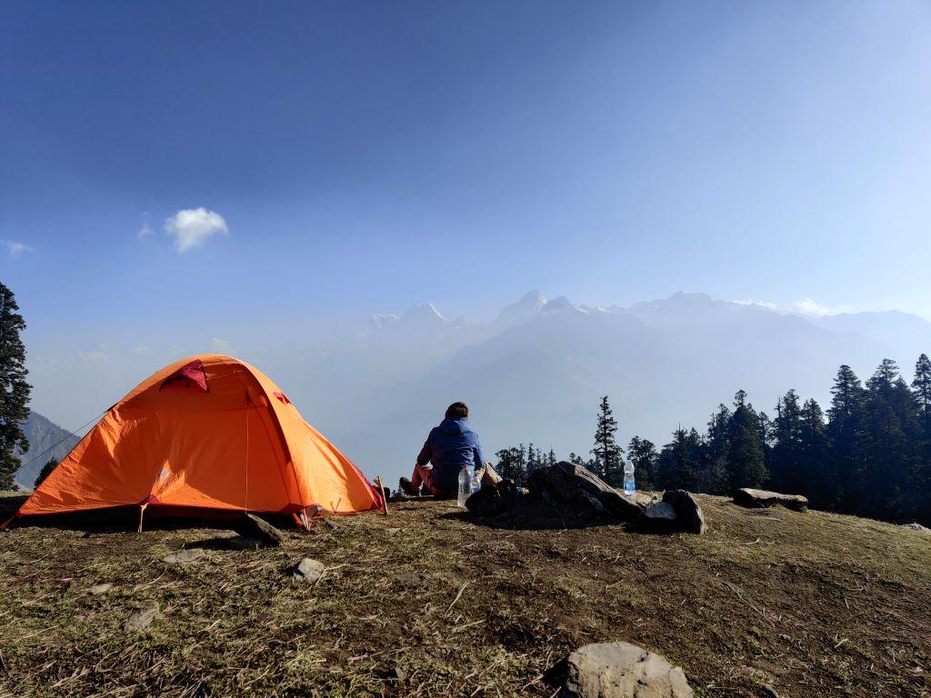 kuari pass trek campsite