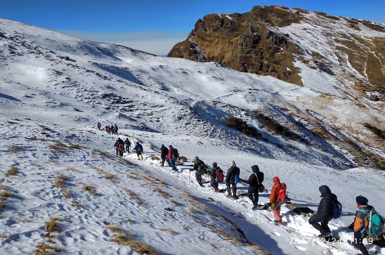 Kuari pass trek in winter