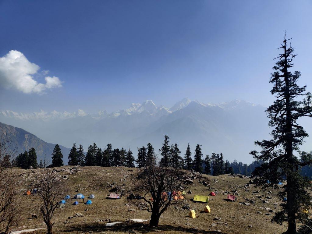 tali forest campsite at kuari pass trek