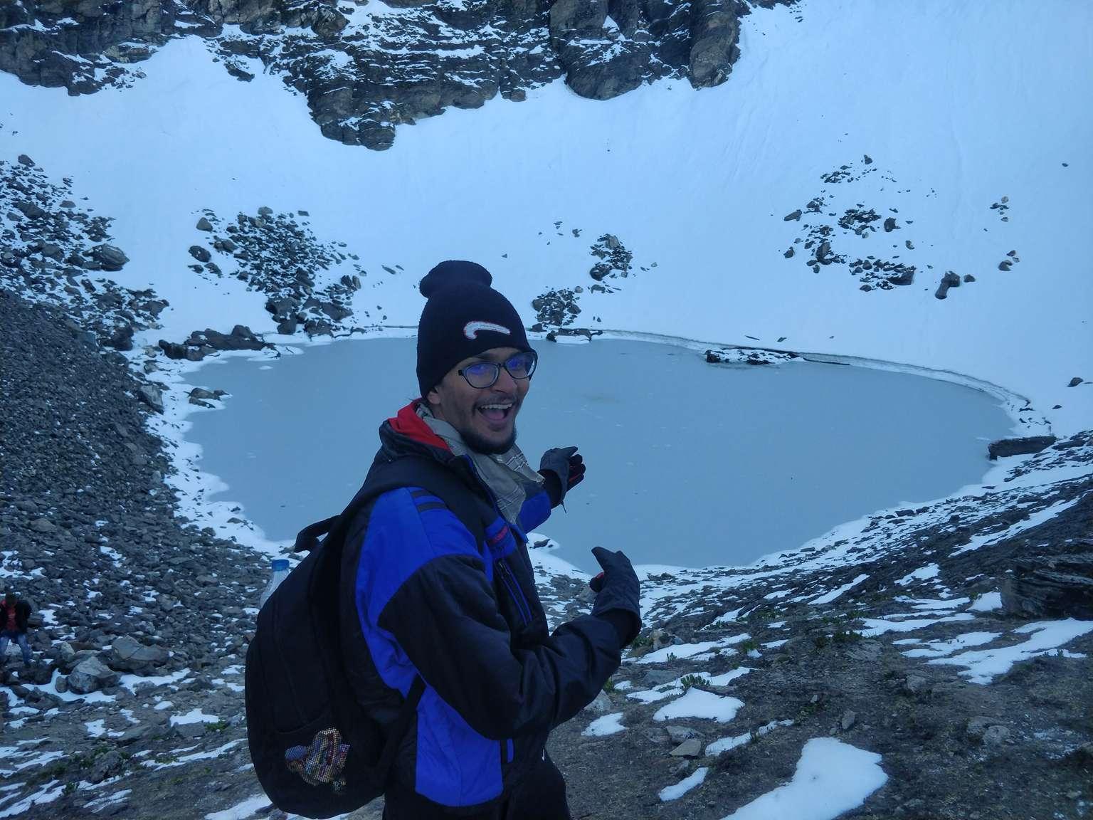 frozen roopkund lake
