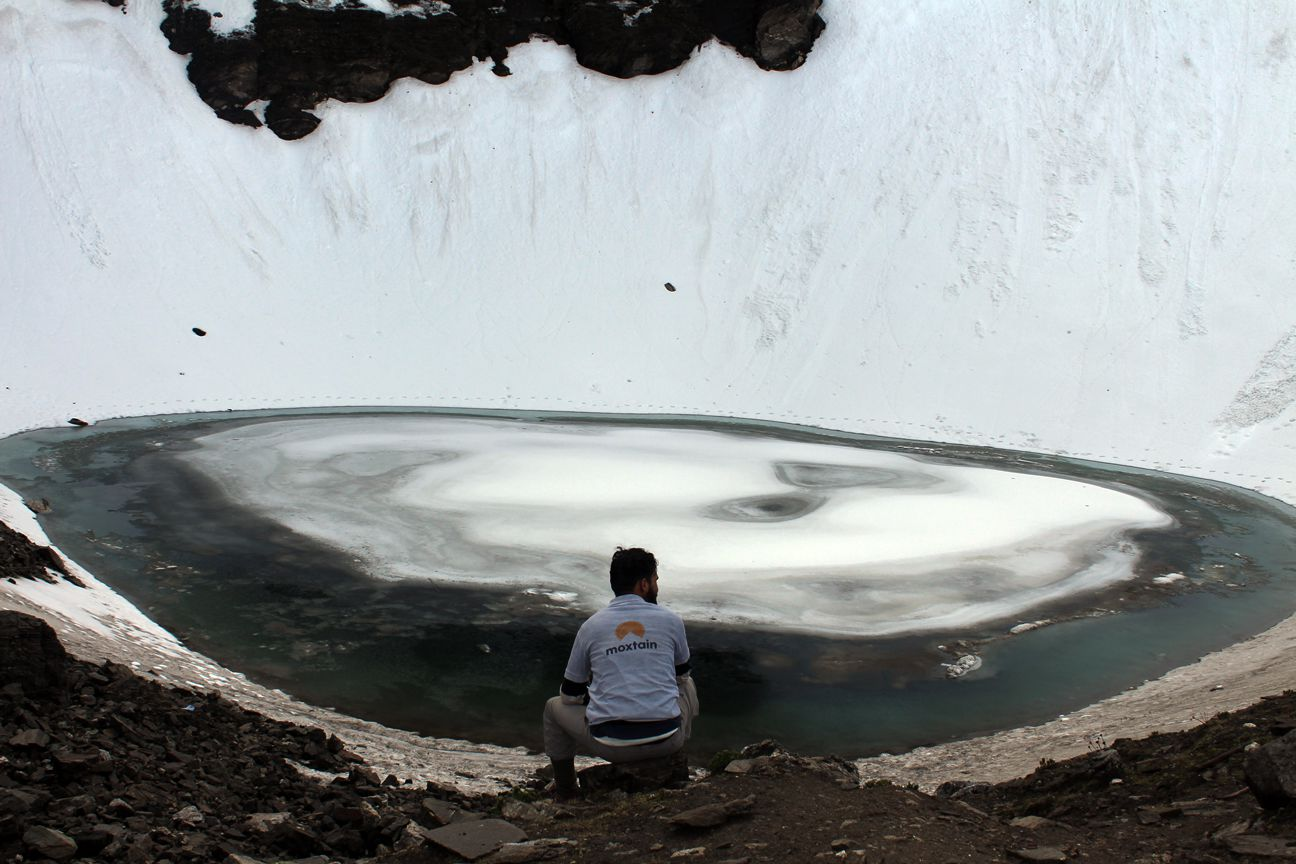 moxtain at roopkund lake